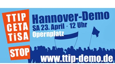 Logo zur Demonstration am 23. April 2016 in Hannover | VS – Fachgruppe Literatur der ver.di