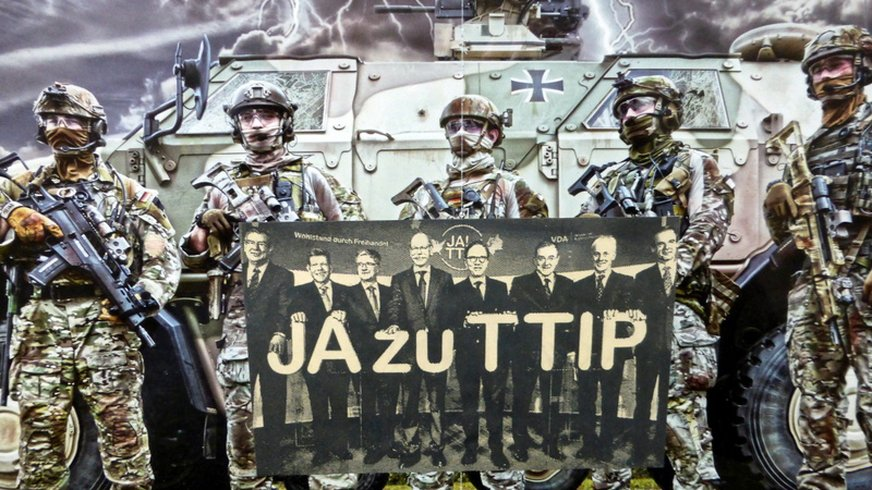 Collage: JA zu TTIP