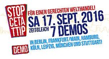 Gegen TTIP&CETA – Demonstration am 17. September 2016 | VS Fachgruppe Literatur der ver.di