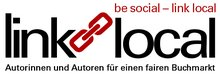 Logo der Aktion »be social – link local« | VS Fachgruppe Literatur der ver.di